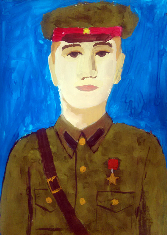 натяжные картинки герои отечества портрет рамках